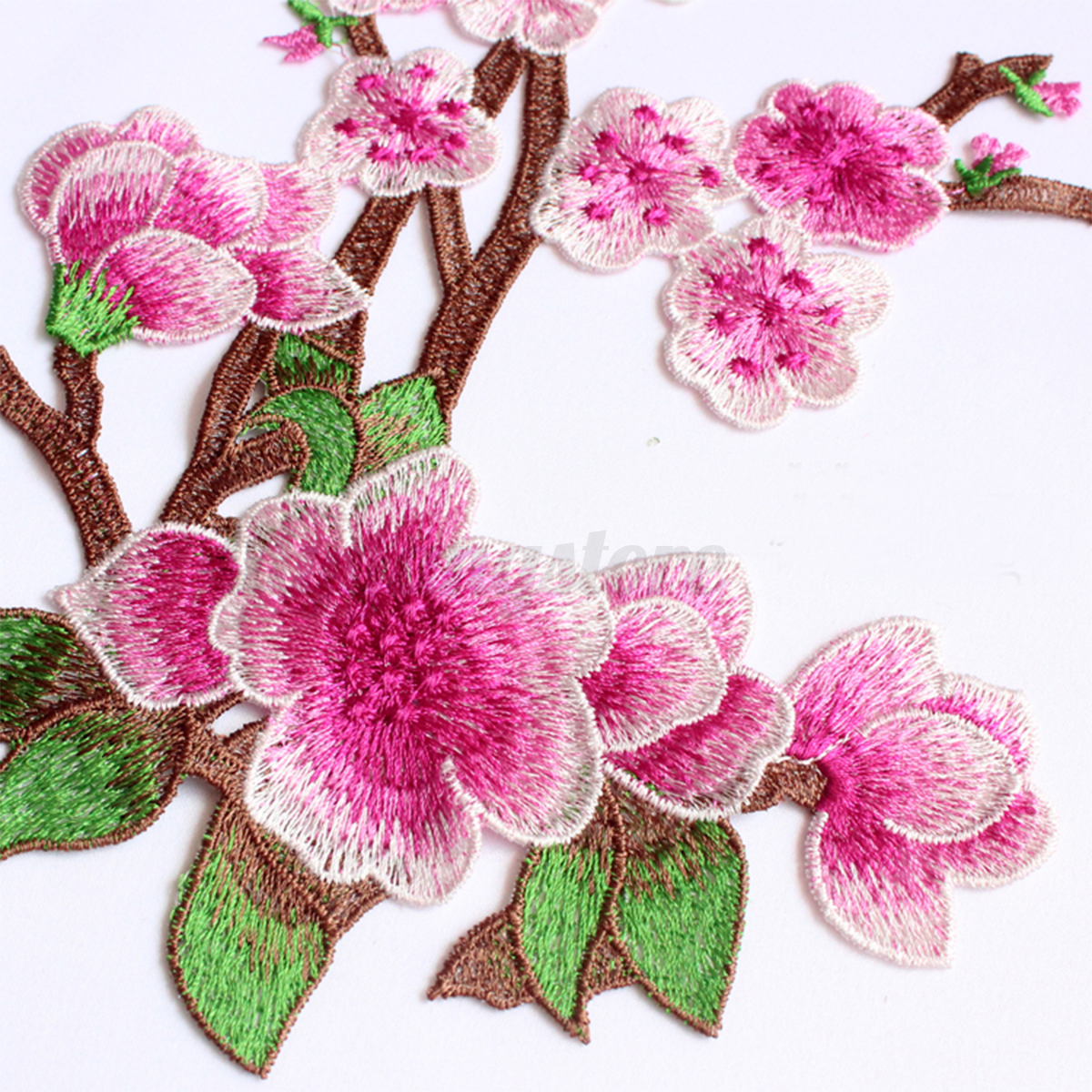 Plum blossom flower floral embroidery lace applique sewing