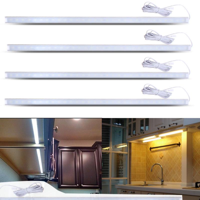 4 pack 10w 50cm led strip light kit for under kitchen