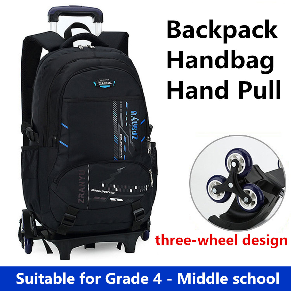 cc312fc2b2 Children Trolley Backpack Travel Rucksack School Luggage Bag With ...