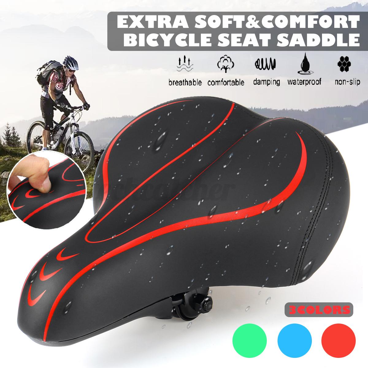 Universal Wide Big Bum Bike Seat Comfort Bicycle Cycling Sad