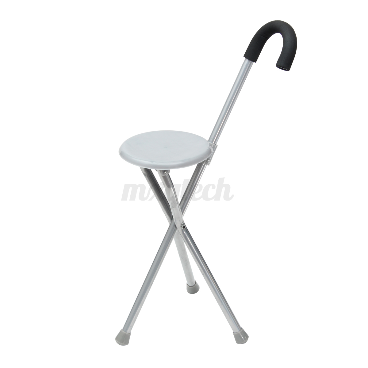 Folding Tripod Cane Hiking Chair Portable Walking Stick