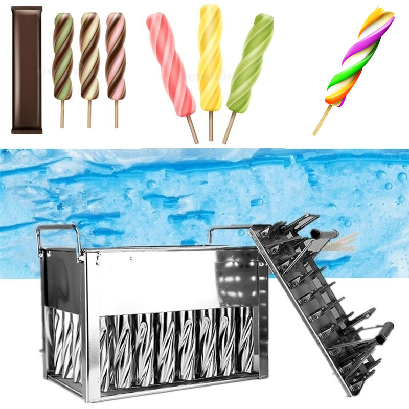 40 pcs Stainless Steel Ice Cream Sticks Molds Lolly Popsicle
