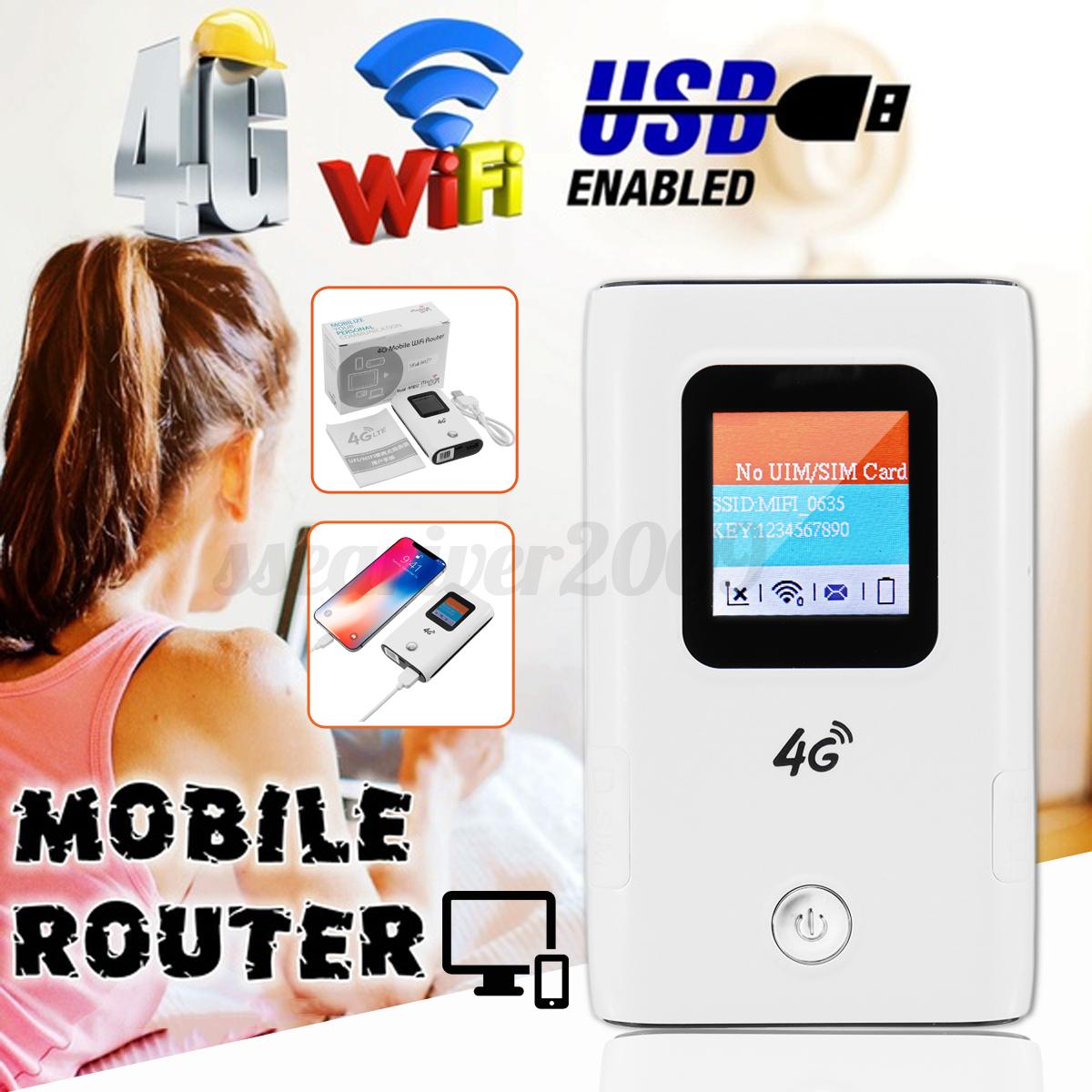 Portable Unlocked 4G WIFI Router SIM LTE Mobile Modem Broadb