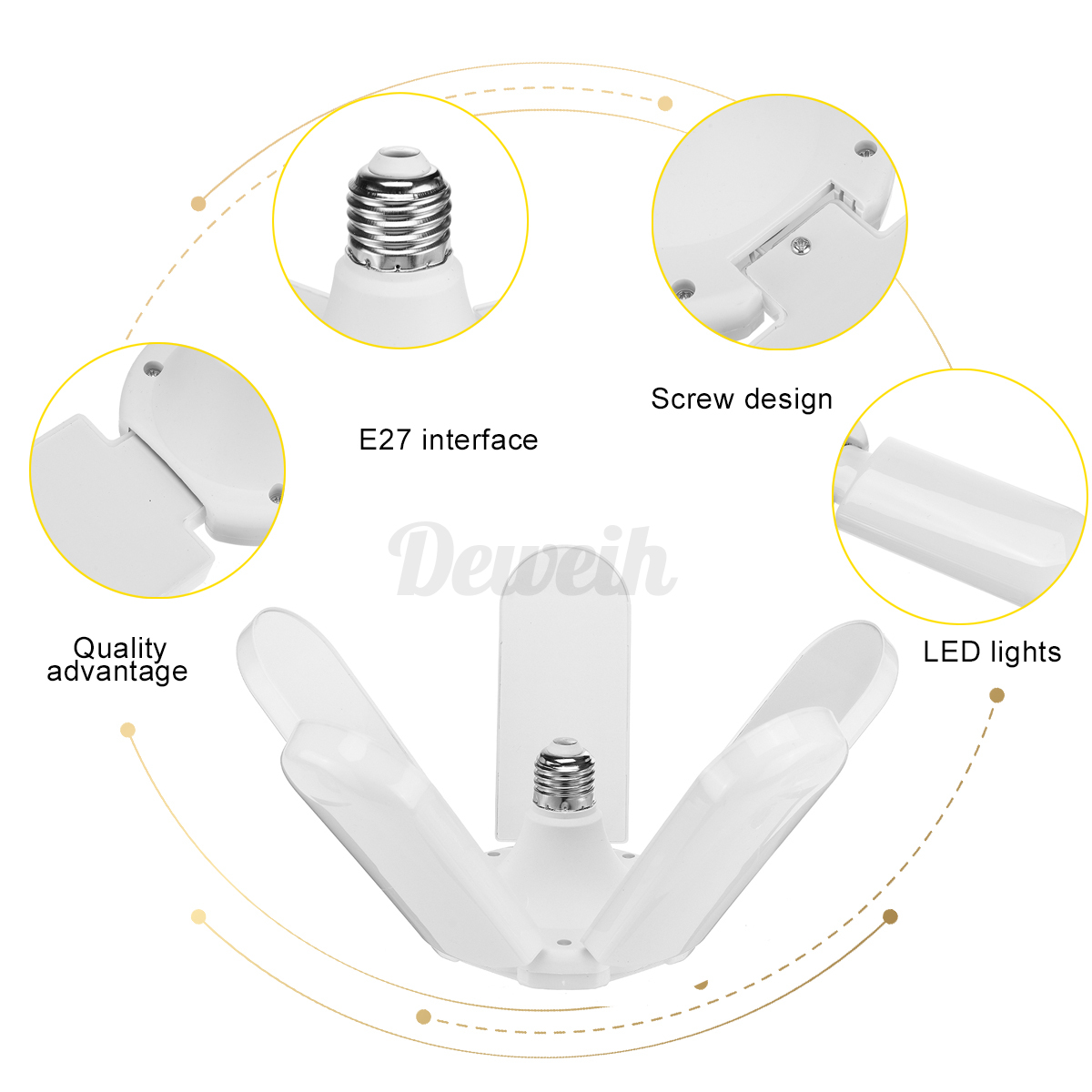 45-60-75W-10000-20000lm-LED-Garage-Shop-Work-Lights-Home-Ceiling-Deformable-Lamp thumbnail 4