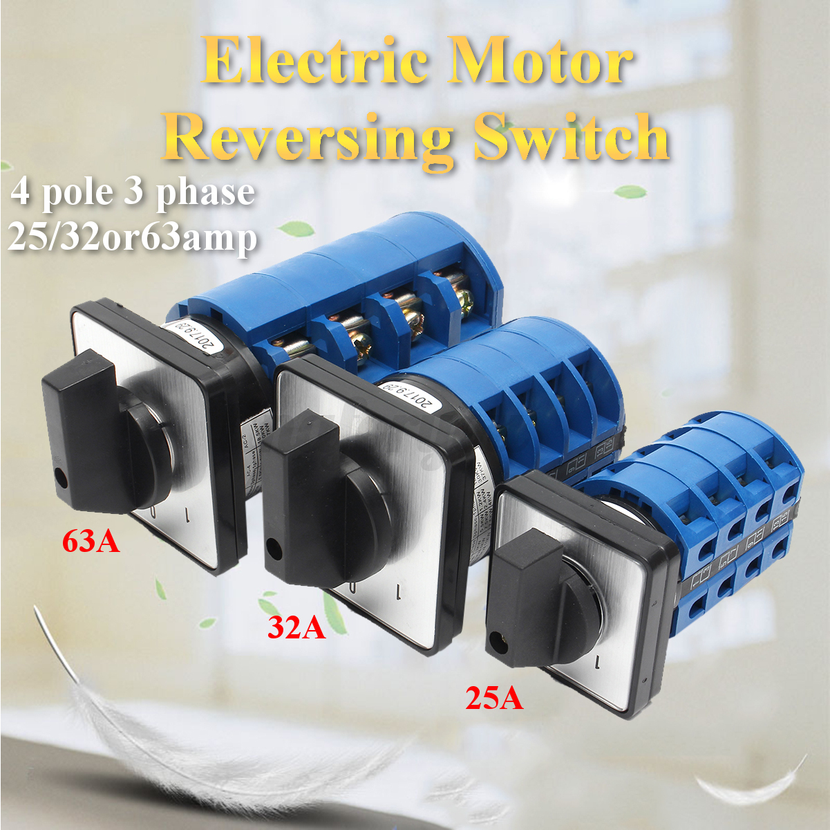 Electric Motor Reversing Switch 3 Phase 25  32  63amp Or 4
