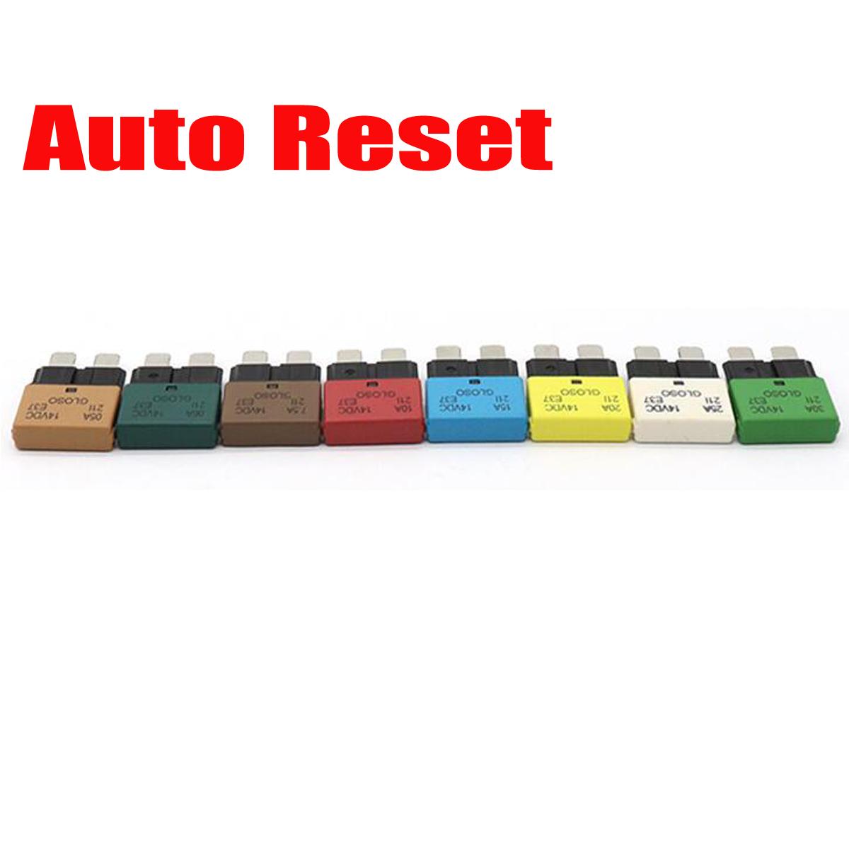 5 30a Circuit Breaker Blade Fuse Resettable Auto Manual Car Marine Automotive Reset