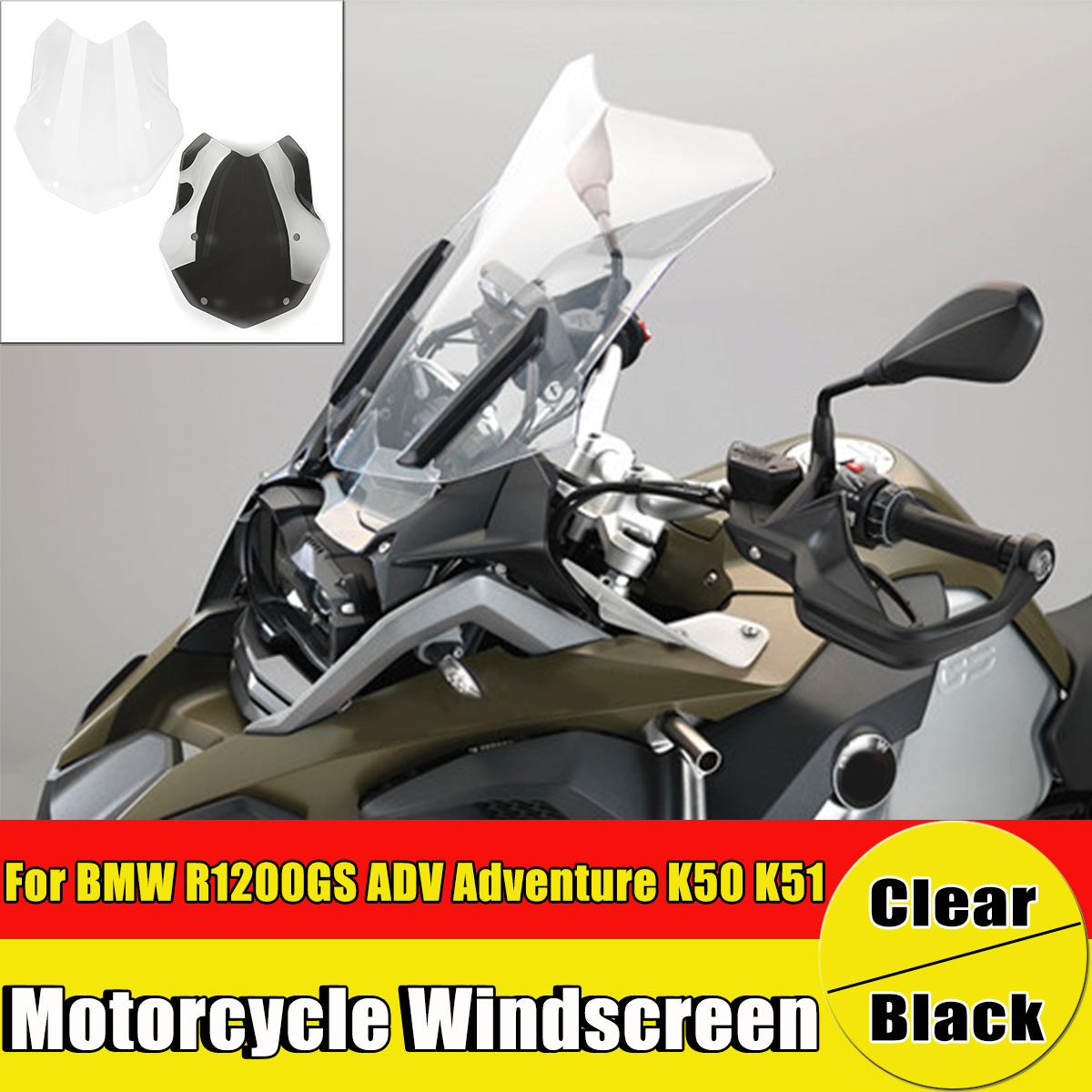 motorcycle windshield windscreen protector for bmw r1200gs adv