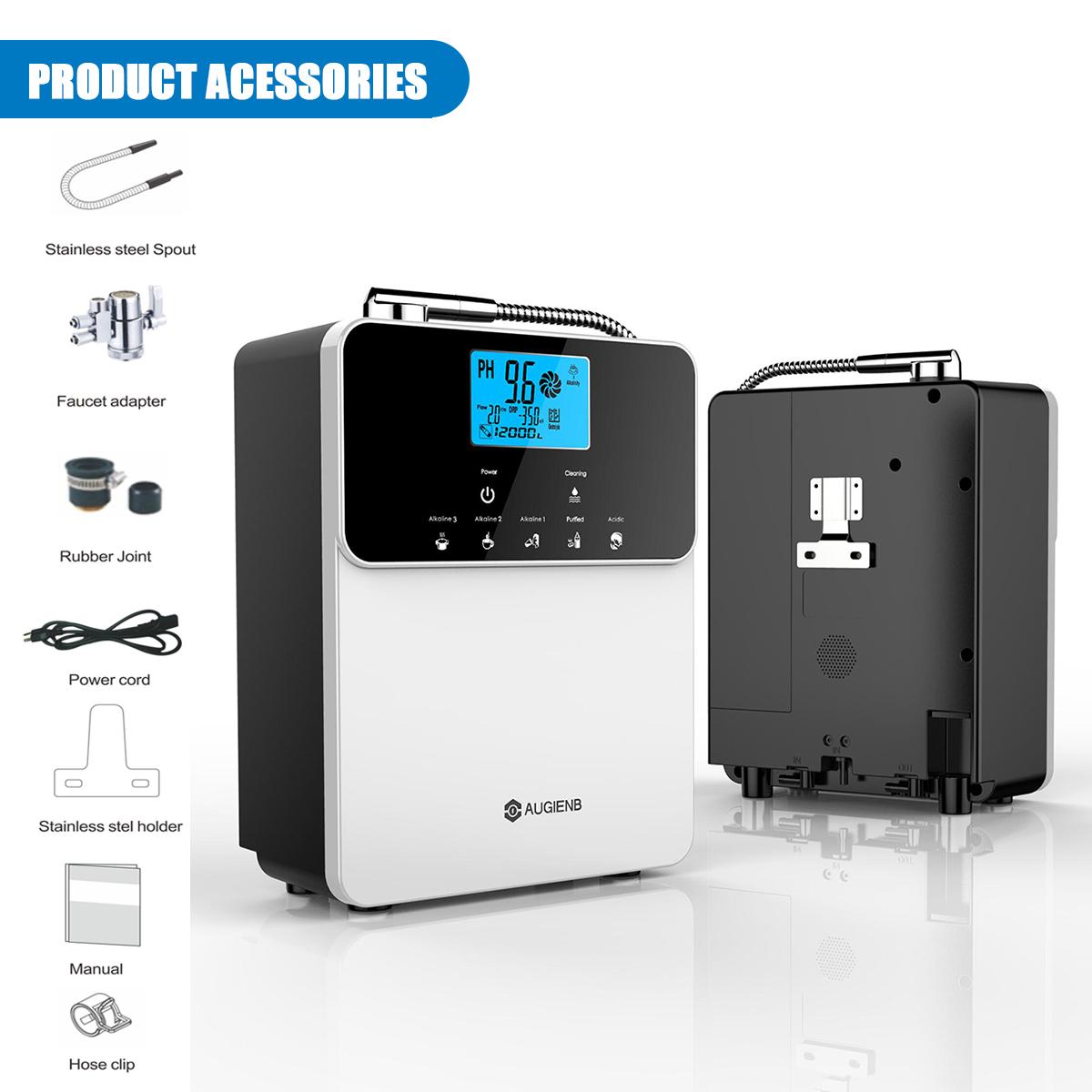 AUGIENB PH3.5-11 Alkaline Acid Water Ionizer & Purifier Machine Product Acessoriers