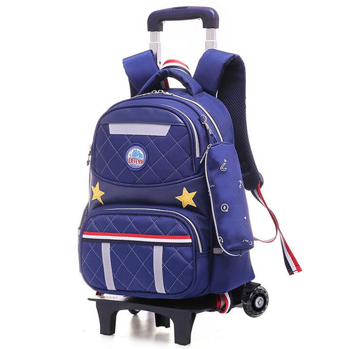 ae4b374cb235 Kids Girls Boys Children Wheels Trolley Backpack Bag School Luggage ...