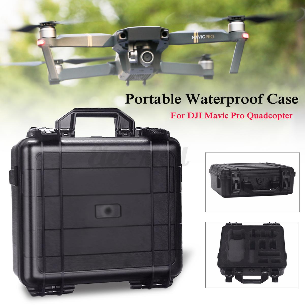 Waterproof HardShell Carrying Case Suitcase Box Handbag For DJI Mavic Pro Drone