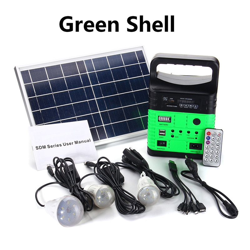 Solar Power Panel Generator Led Light Usb Charger Home