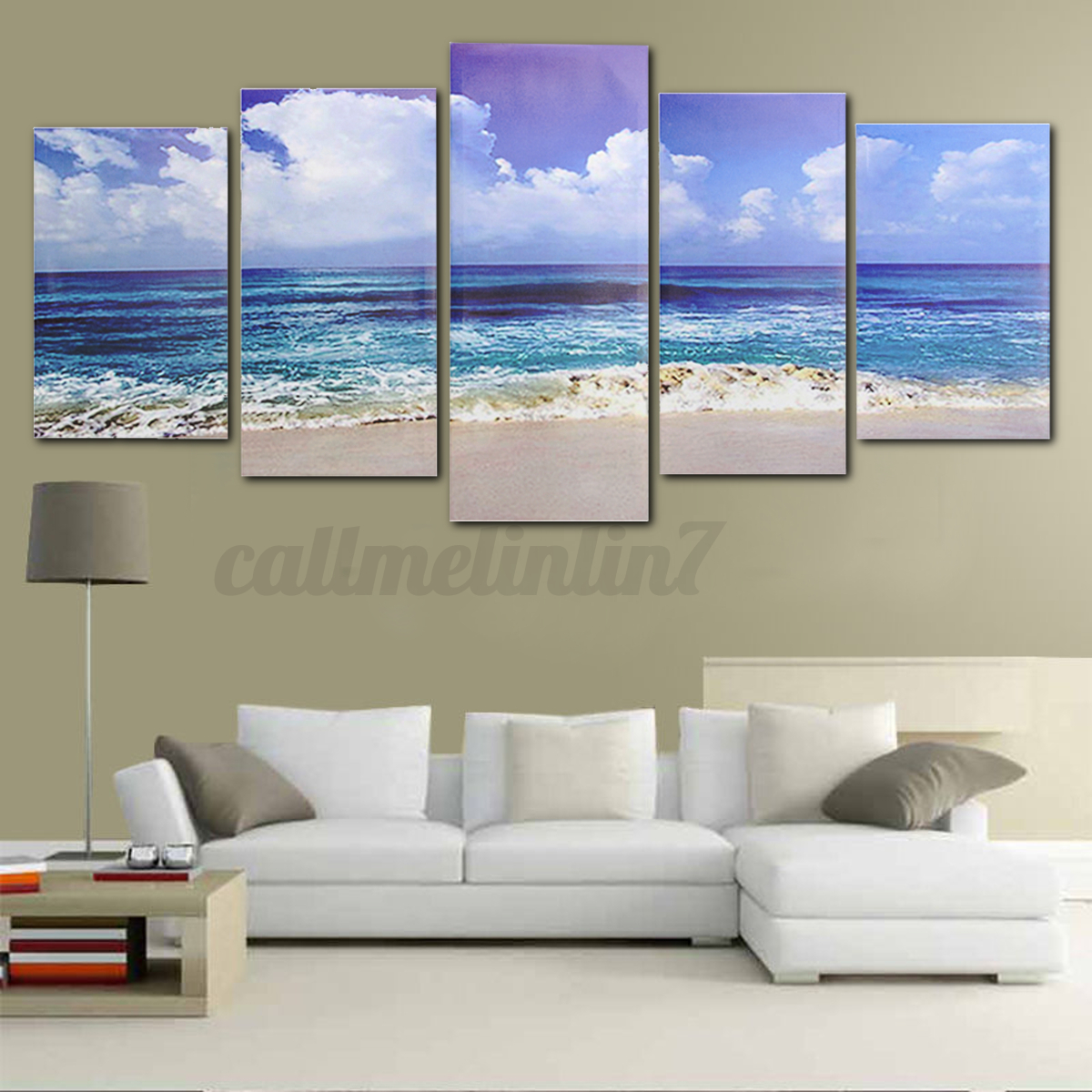 Framed Abstract Art Canvas Print Modern Oil Painting