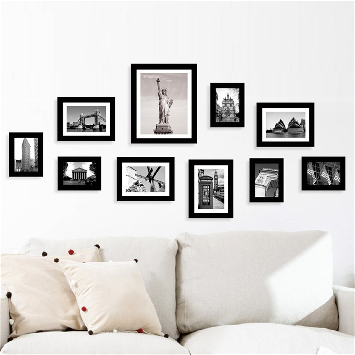 multi photo frames set home room office decor picture collage wall art gift diy ebay. Black Bedroom Furniture Sets. Home Design Ideas