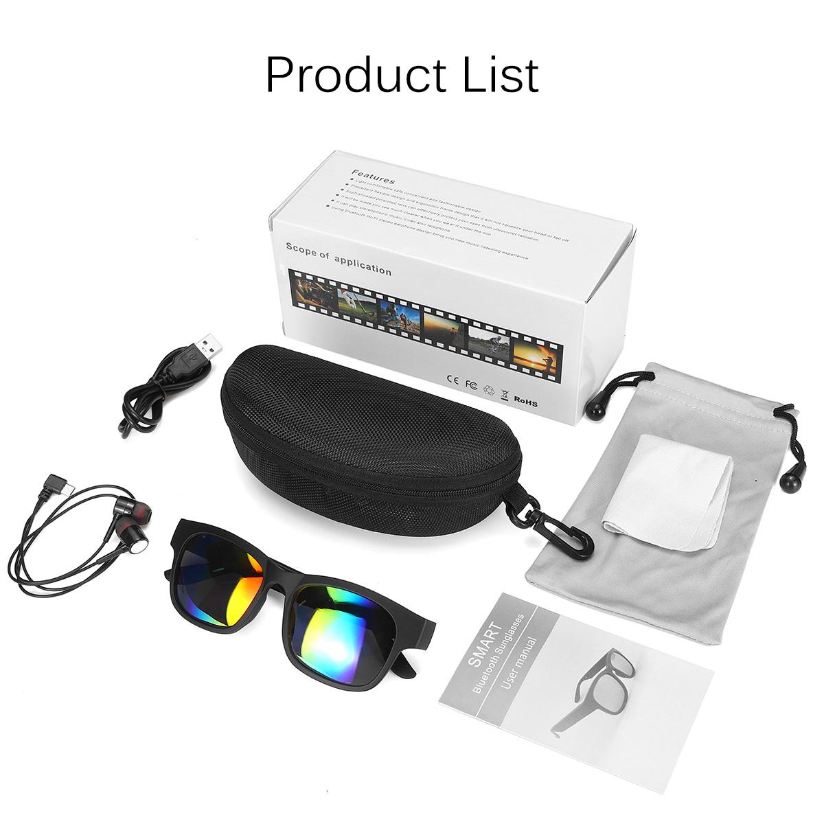 Polarized Smart bluetooth Sunglasses Glasses Earphones Headset W/ Stereo Speaker