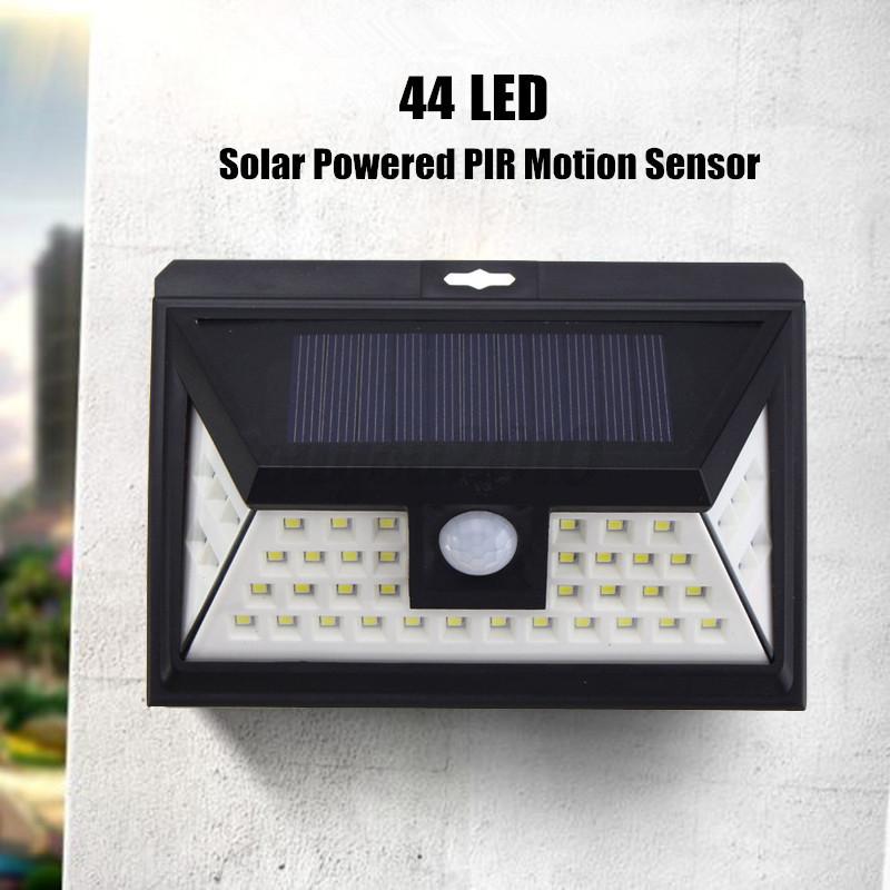 LED Solar Power PIR Motion Sensor Wall Light Outdoor Path Garden Lamp Waterproof