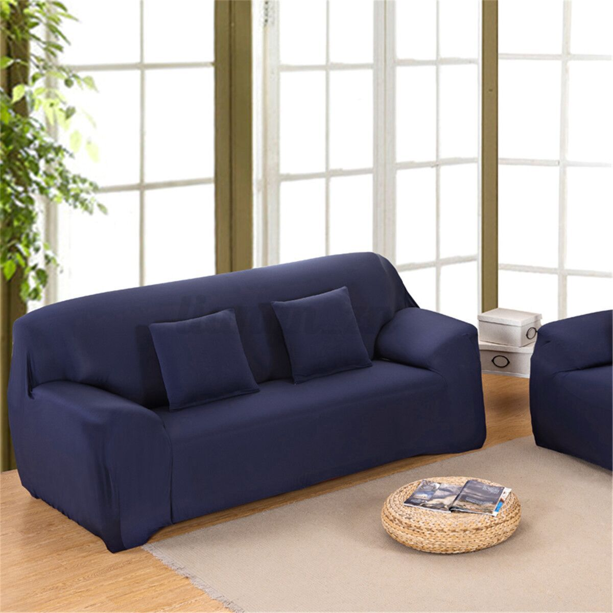 1 2 3 4 Seater L Shape Stretch Chair Loveseat Sofa Couch Protect Cover Slipcover Ebay