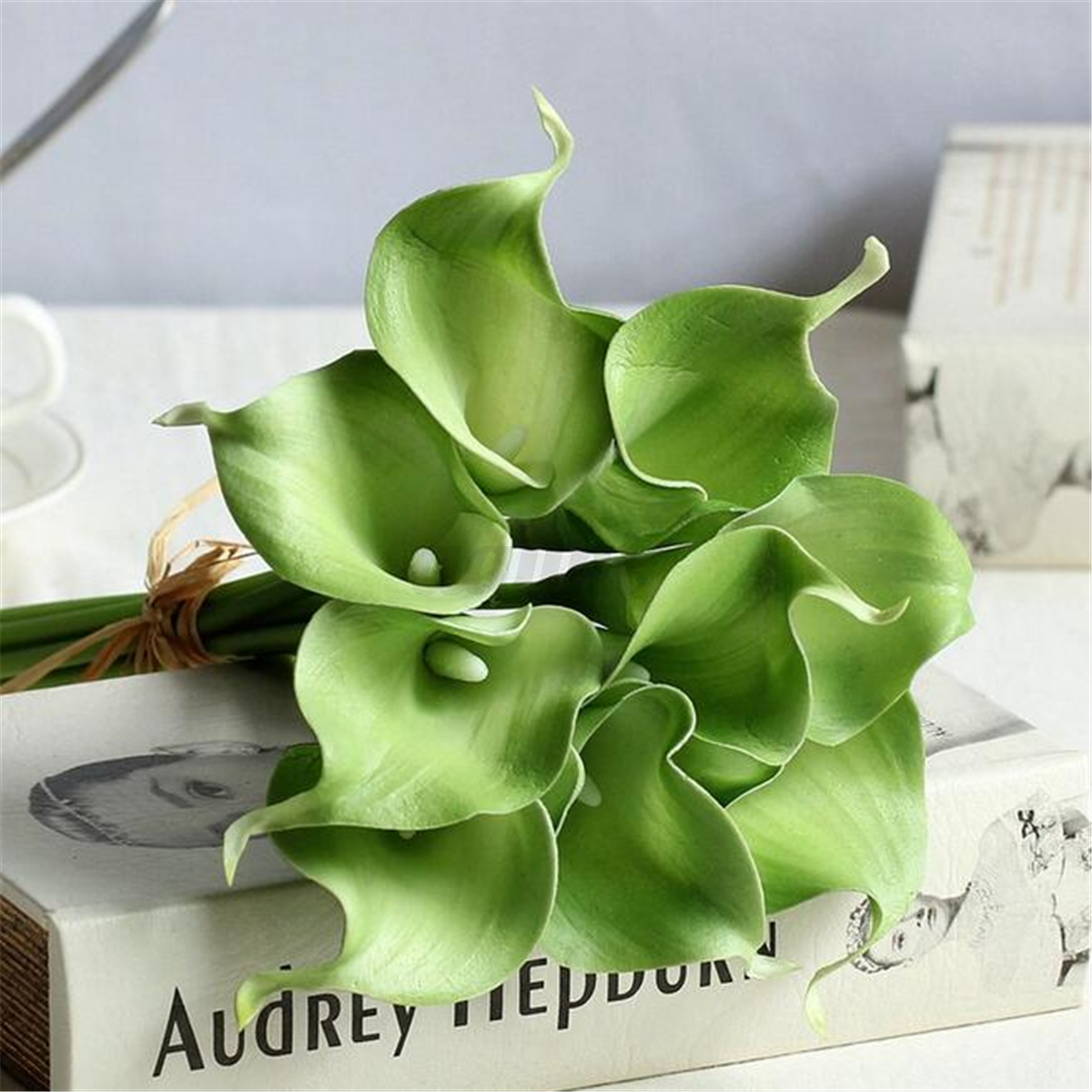 Artificial Bird Of Paradise Calla Lily Flowers Bouquet Home Wedding ...