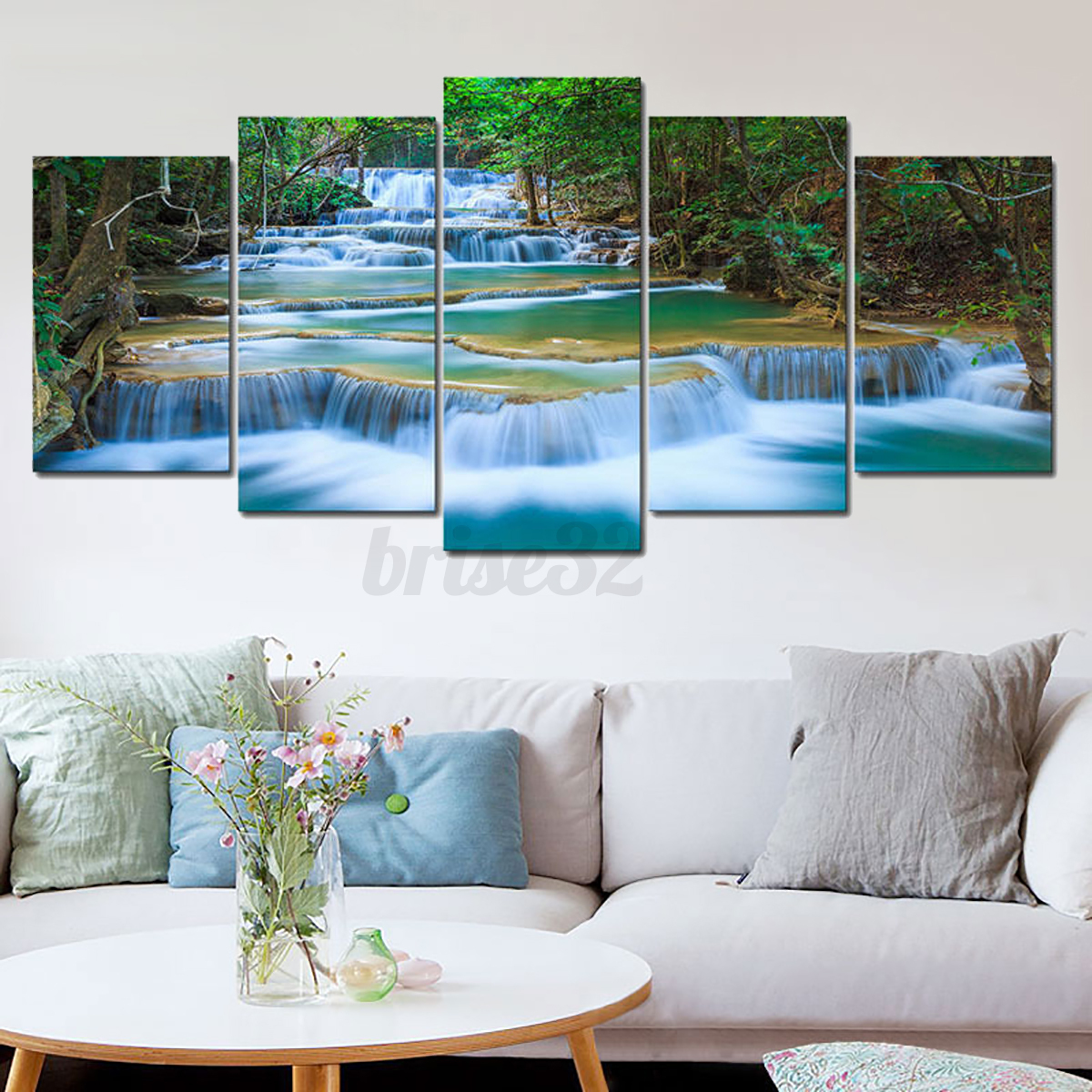 5pcs canvas print painting wall picture modern home art decor framed. Black Bedroom Furniture Sets. Home Design Ideas