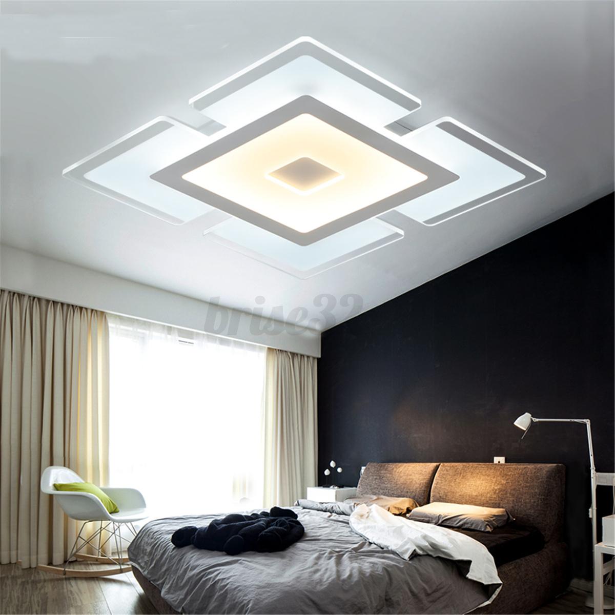 Room Ceiling Lights: Modern Elegant Square Acrylic LED Ceiling Light Living
