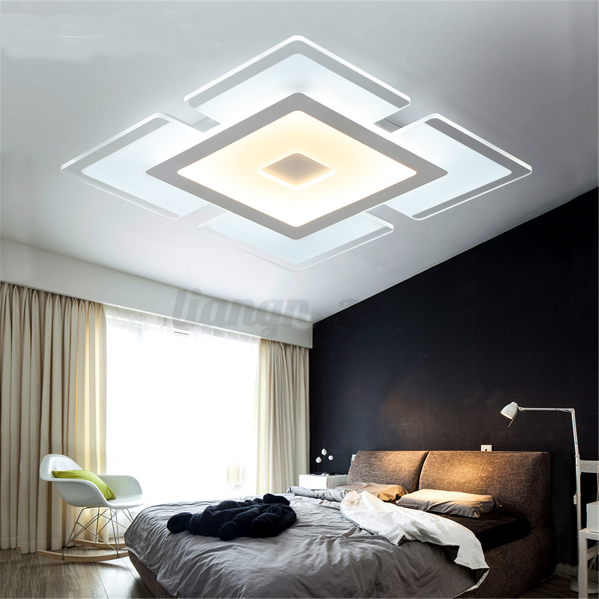 15w led moderne plafonnier suspension luminaire lampe suspendu lumi re lustre ebay. Black Bedroom Furniture Sets. Home Design Ideas