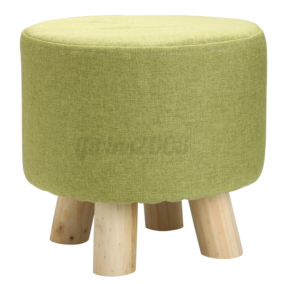 Footstool Small Round Wood Pouffe Chair Ottoman Foot Stool
