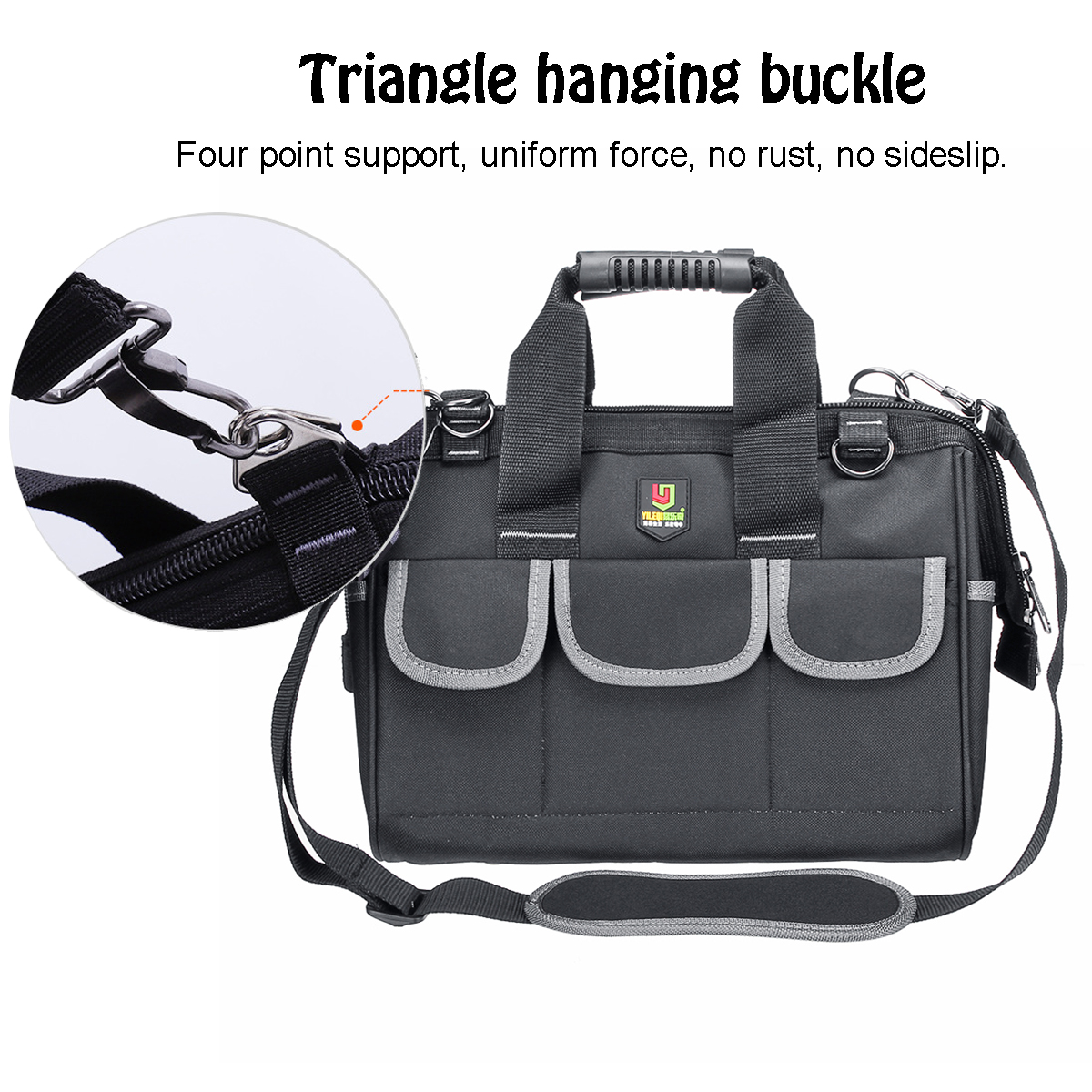 12-19/'/' Portable Tool Bags Heavy Duty Oxford Cloth Hardware Pouch Toolbags Black