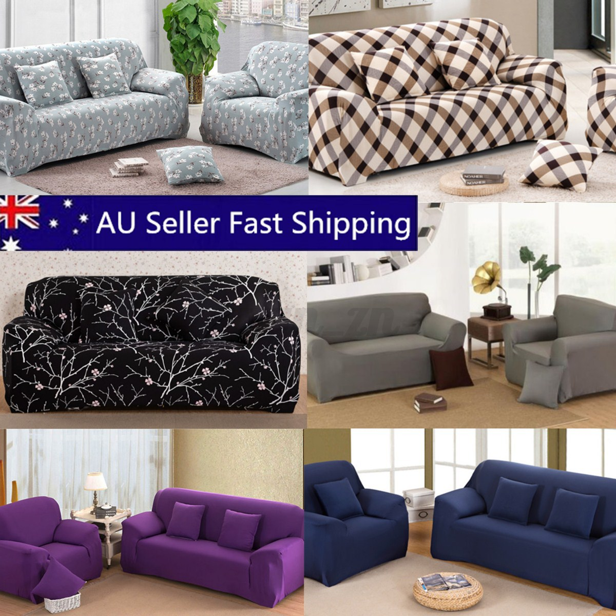 1 2 3 4 seater l shape stretch chair loveseat sofa couch for Sofa 6 seater