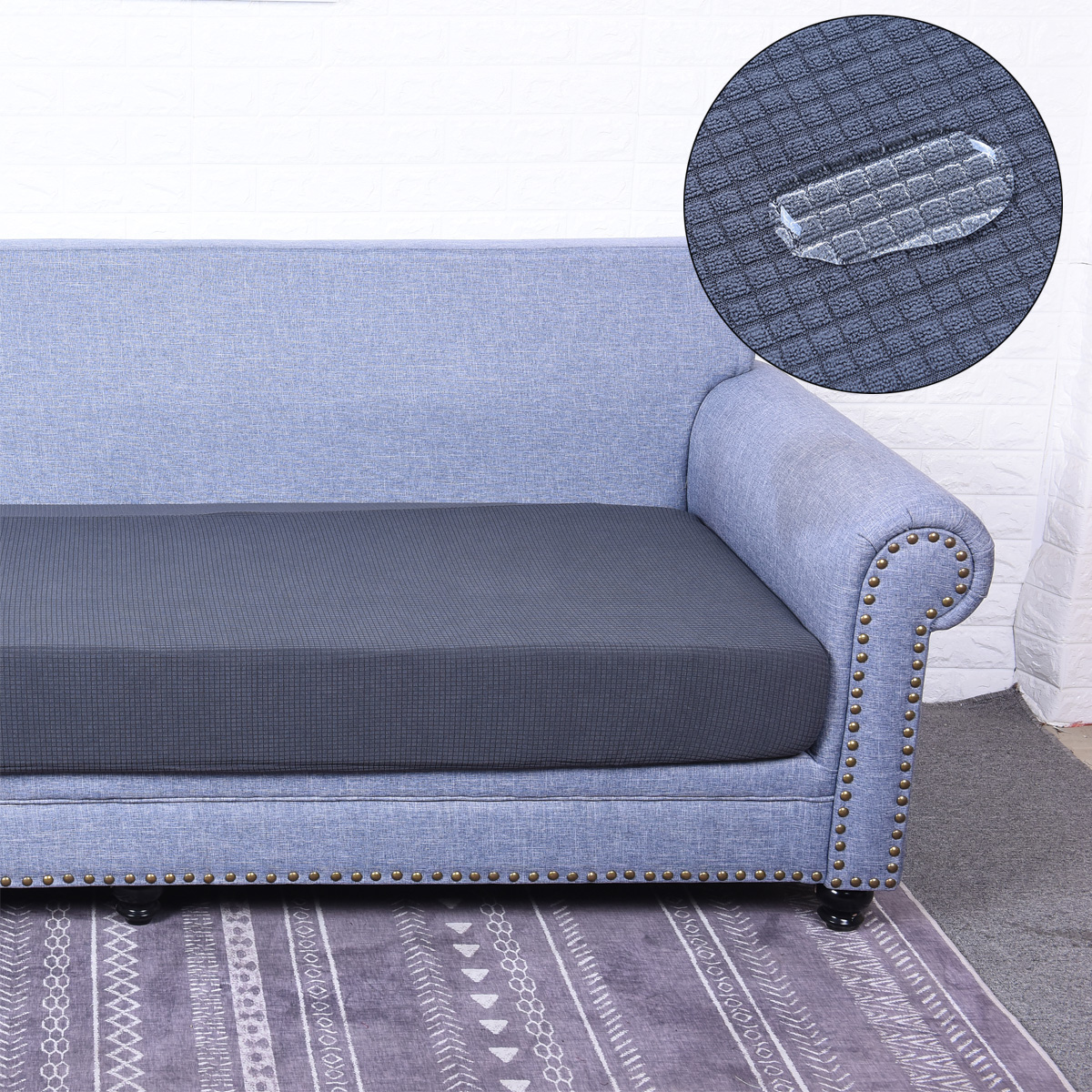 1-4 Seats Waterproof Stretchy Sofa Seat Cushion Cover