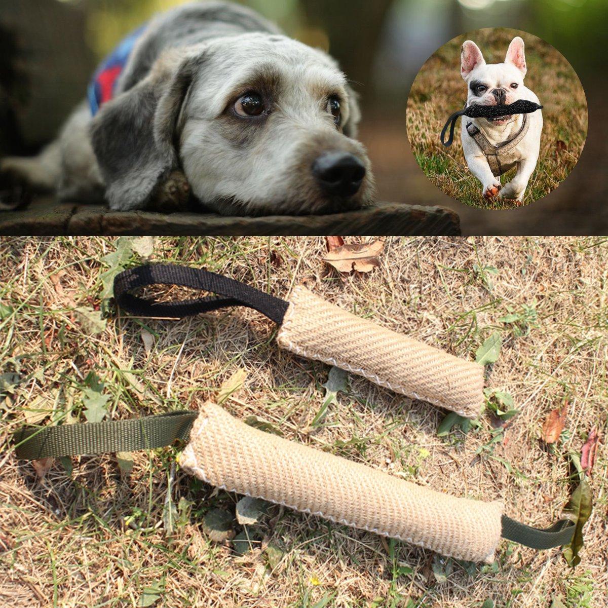 Dog Bite Tug Training Toy Durable Jute Stick Puppy Pet ...