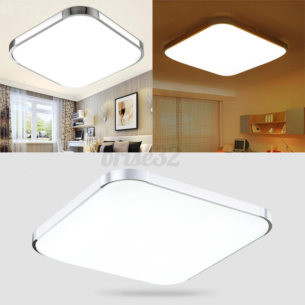 modern led square ceiling down light bedroom living room lamp surface mount new ebay. Black Bedroom Furniture Sets. Home Design Ideas