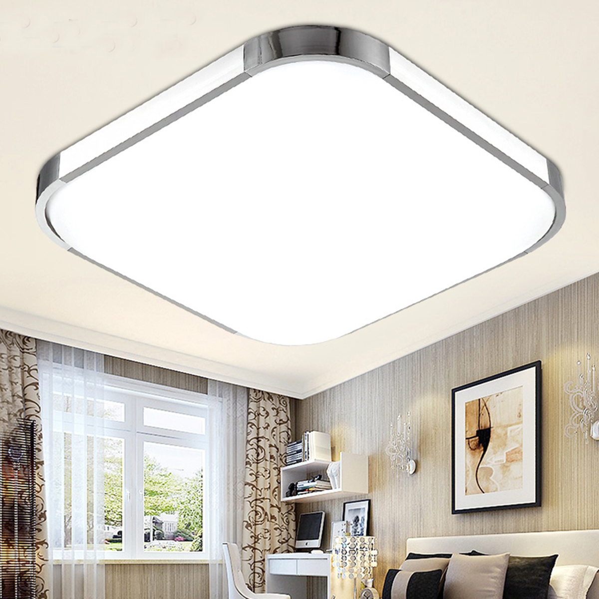 Modern-Square-LED-Ceiling-Down-Light-Bedroom-Living-Room-Lamp-Surface-Mount-New