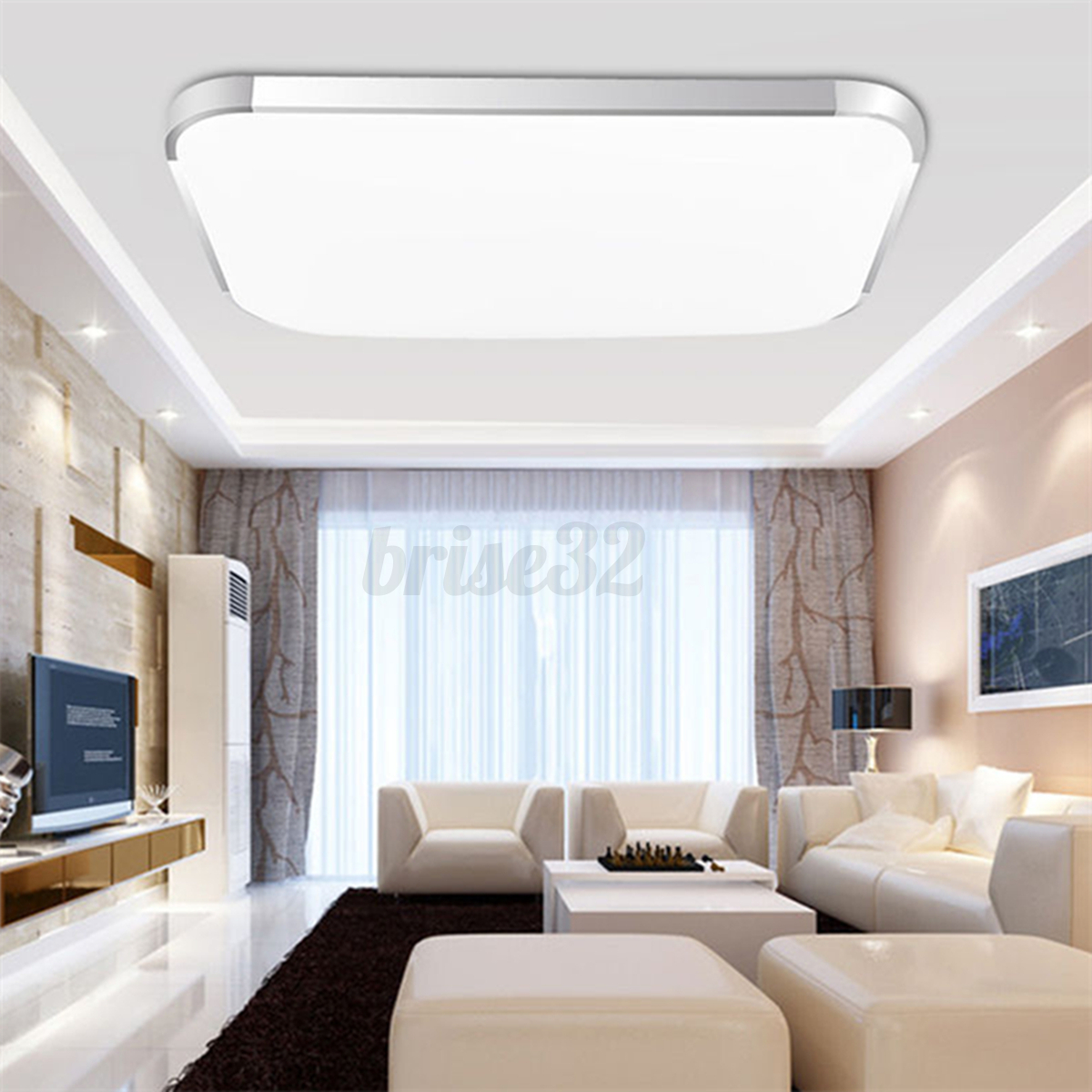 modern led square ceiling down light bedroom living room lamp surface mount new ebay. Black Bedroom Furniture Sets. Home Design Ideas