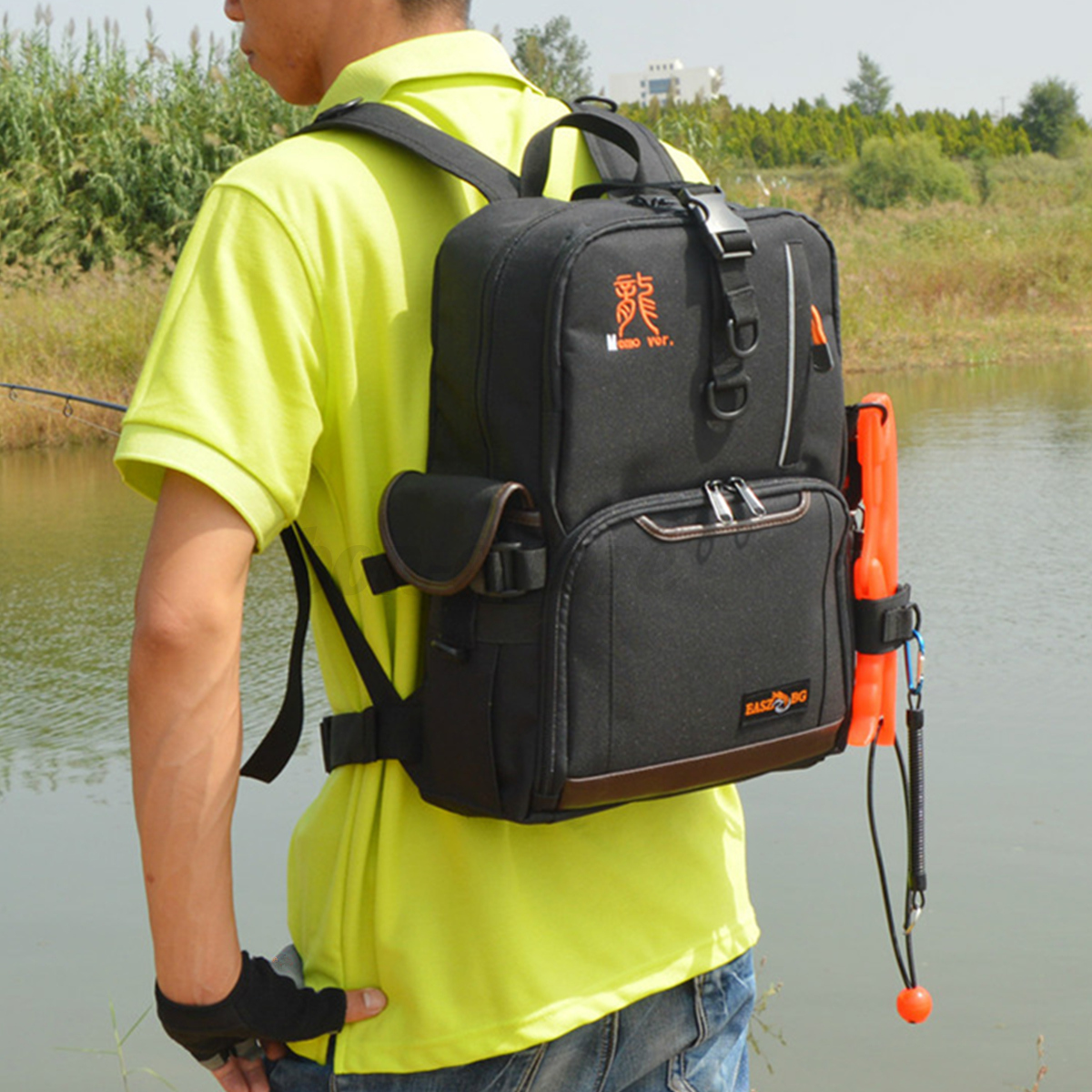 Waterproof outdoor sea fishing backpack tackle carry box for Fishing tackle box backpack
