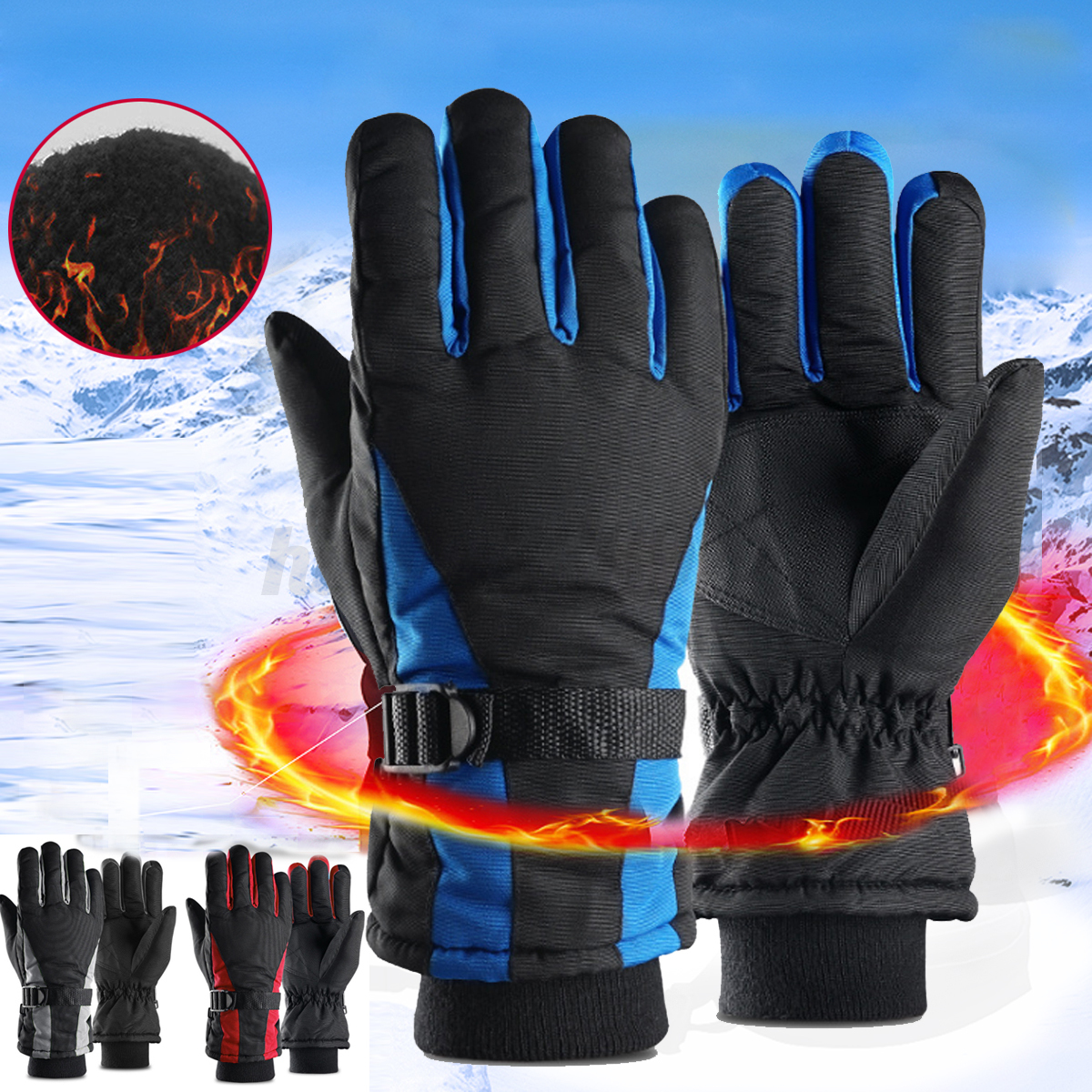 Ski Snowboard Winter Sport Gloves Thermal Warm Waterproof AntiSlip Men Women