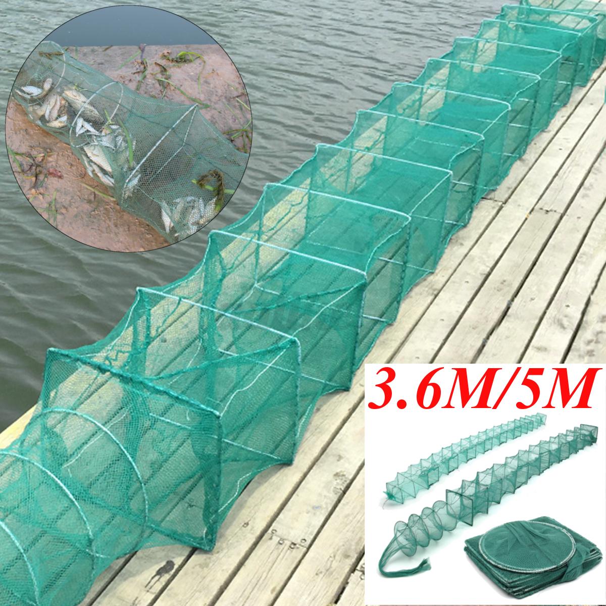 3.6M//5M Crab Crayfish Lobster Catcher Live Trap Fish Net Eel Prawn Shrimp Bait