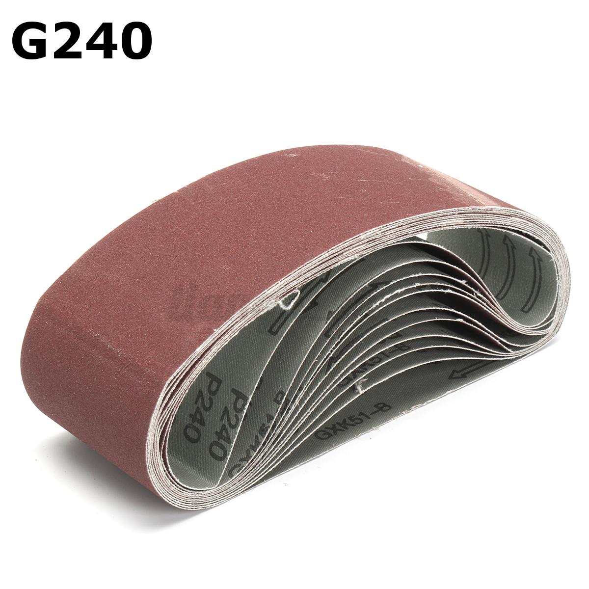 11pc pon age bande abrasive ponceuse papier de verre polissage g 180 240 320 800 ebay - Bande pour ponceuse ...