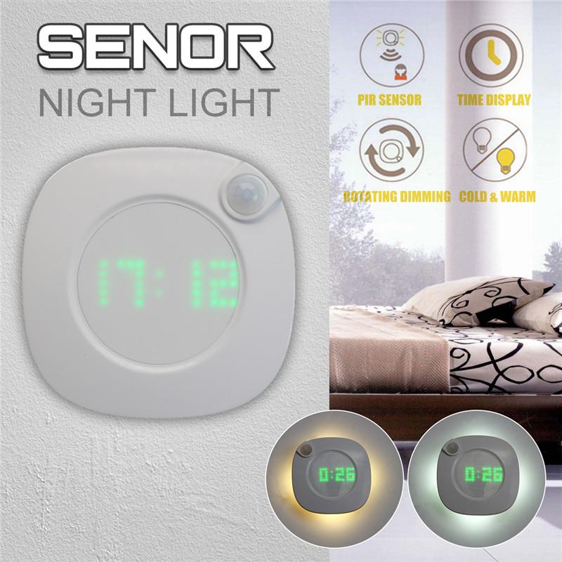 3x//6x LED Nachtlicht mit Bewegungsmelder Sensor Kaltweiß Lampe Nachtleuchte DE