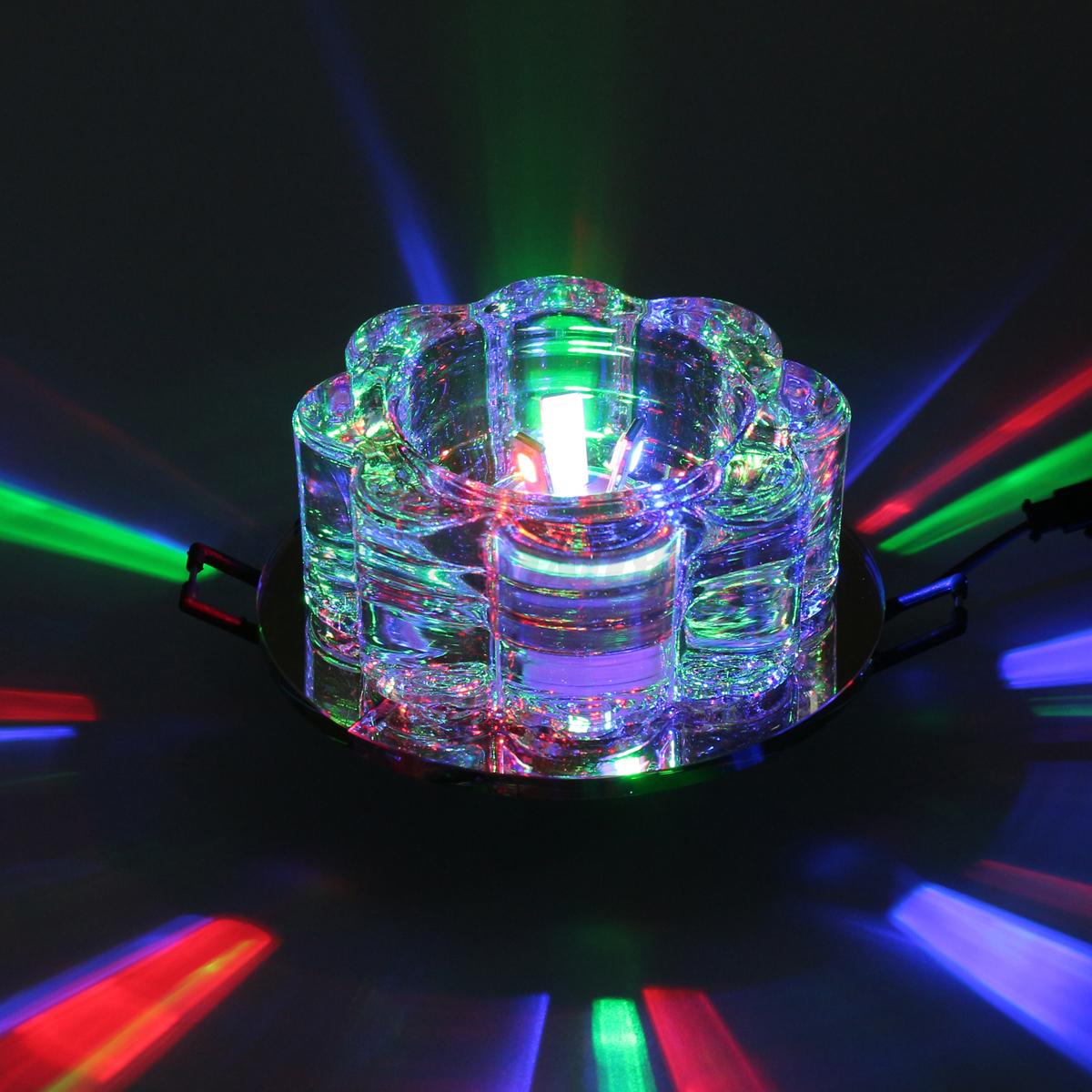 Modern Crystal Flower Led Pendant Lamp Ceiling Light