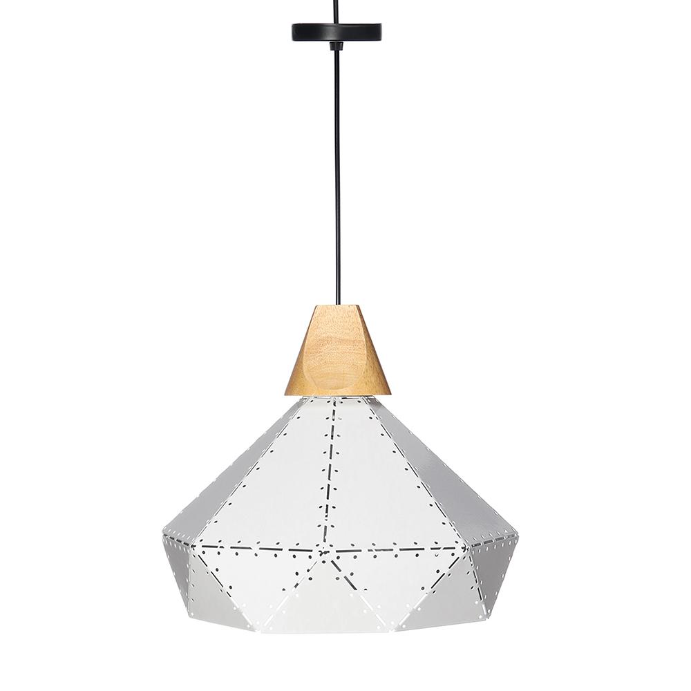 Hoomi Wooden Iron Pendant Ceiling Hanging Lamp Modern