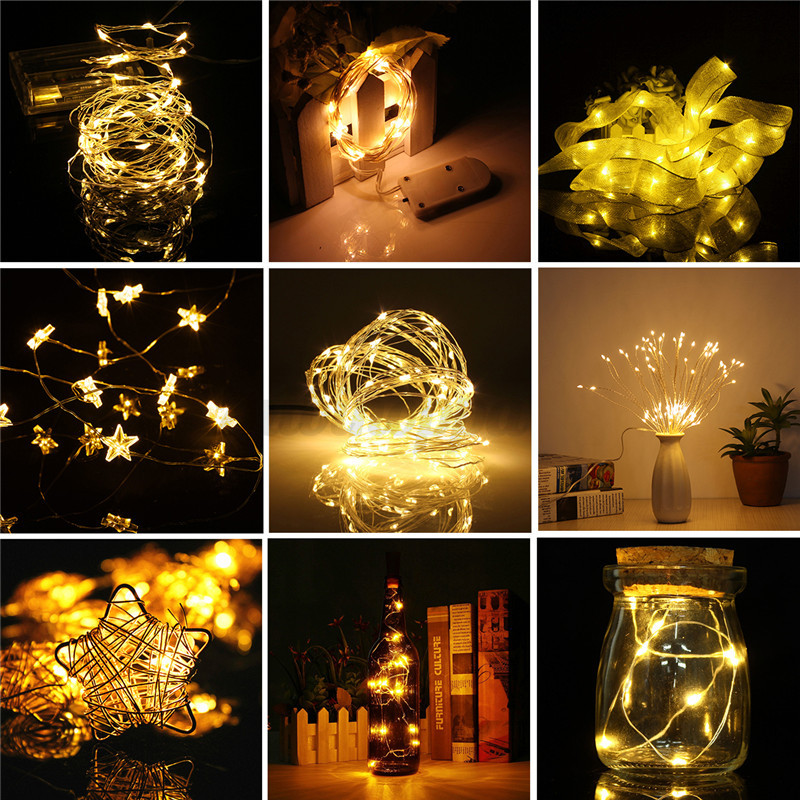10M-LED-String-Silver-Wire-Fairy-Light-Solar-Battery-USB-12V-Xmas-Fairy-Decor thumbnail 19