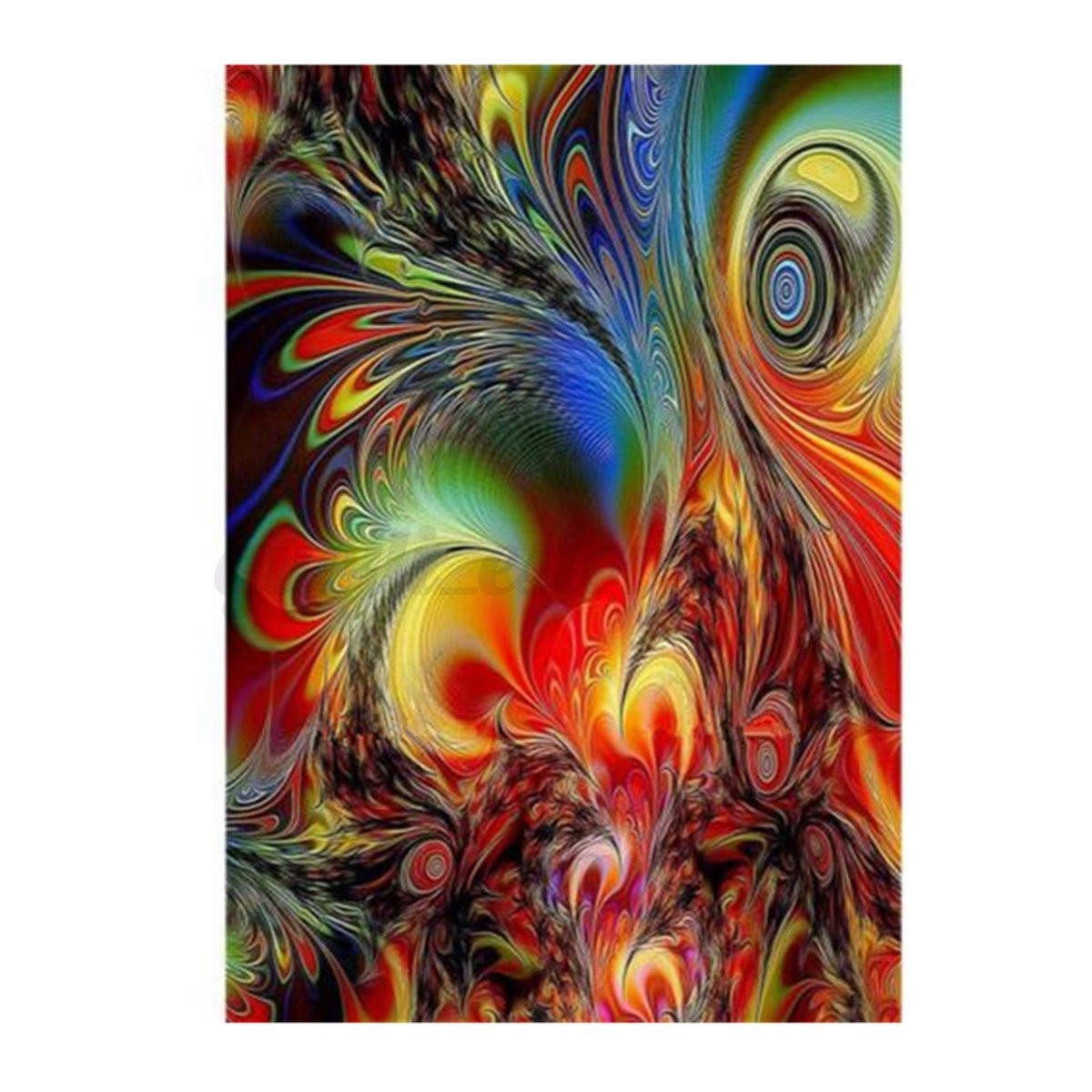 D abstract flowers diy diamond canvas embroidery painting