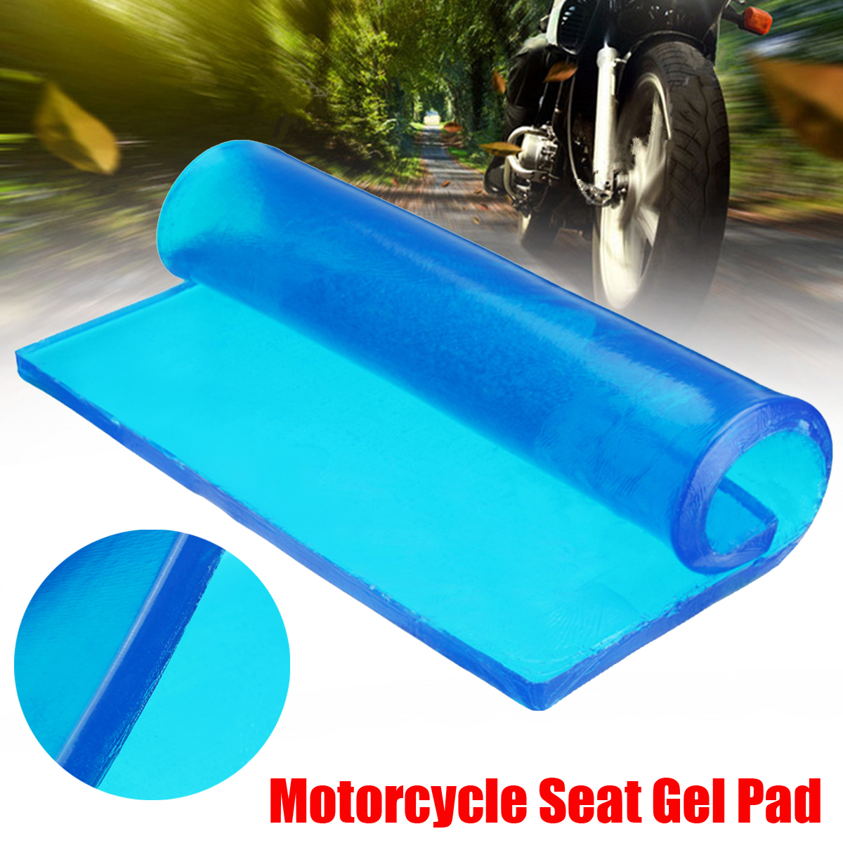 25*25*2CM Motorcycle Seat Gel Pad Shock Absorption Mat Comfortable Soft Cushion