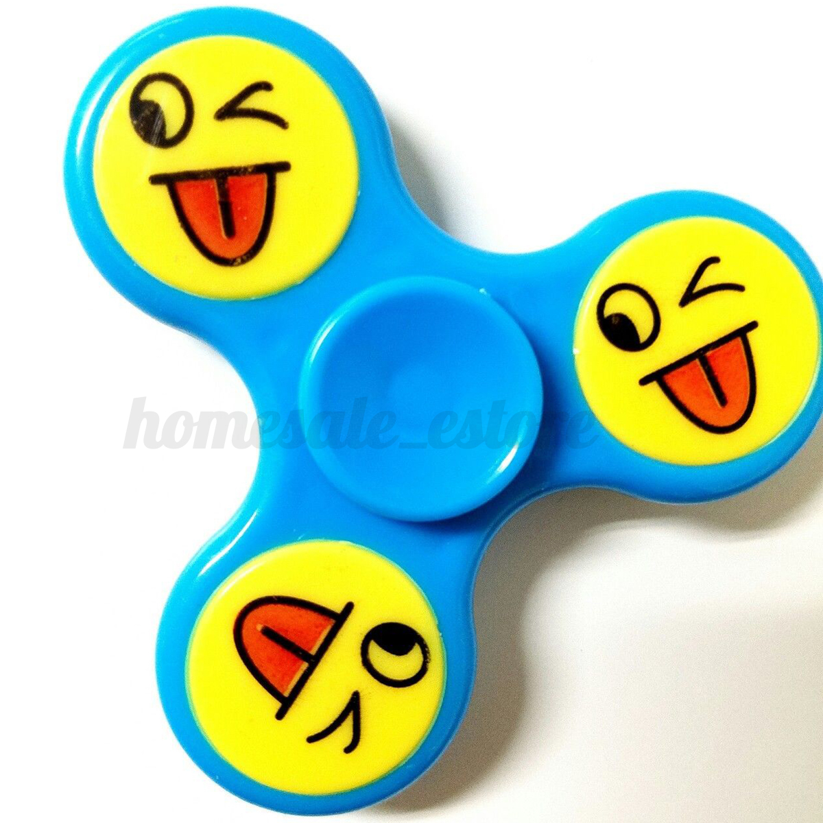 Emoji Fidget Hand Spinner Tri EDC Ball Focus Toy Smiley ...