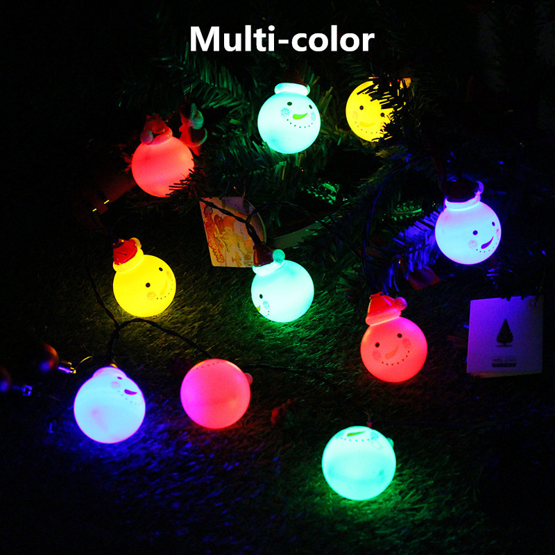 Solar white snowman led string light outdoor christmas for 57in led lighted peacock outdoor christmas decoration