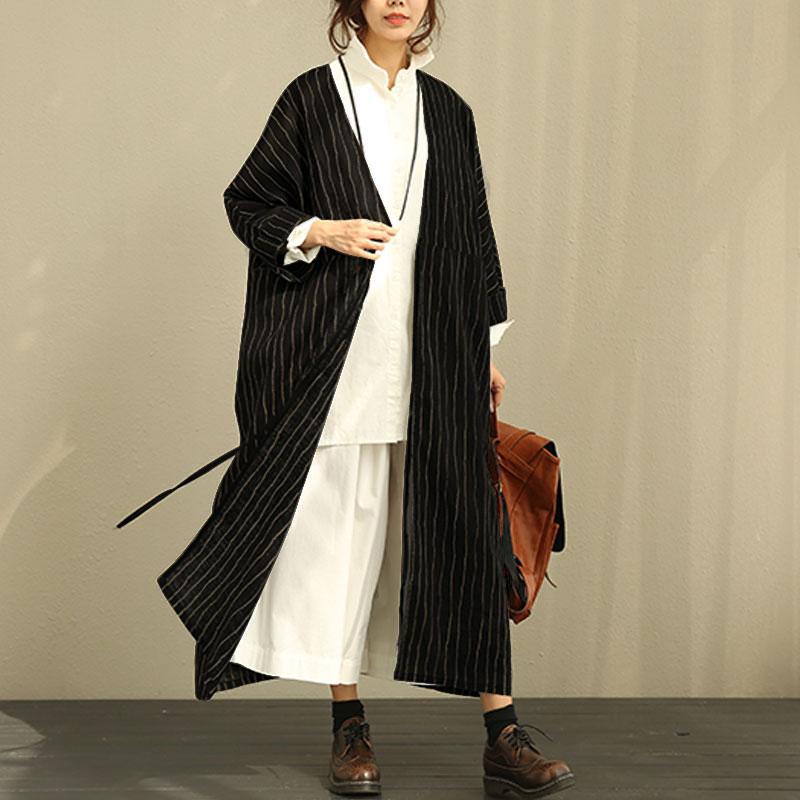 ZANZEA-Women-Oversize-Open-Front-Cardigan-Batwing-Loose-Stripe-Jacket-Coat-Plus