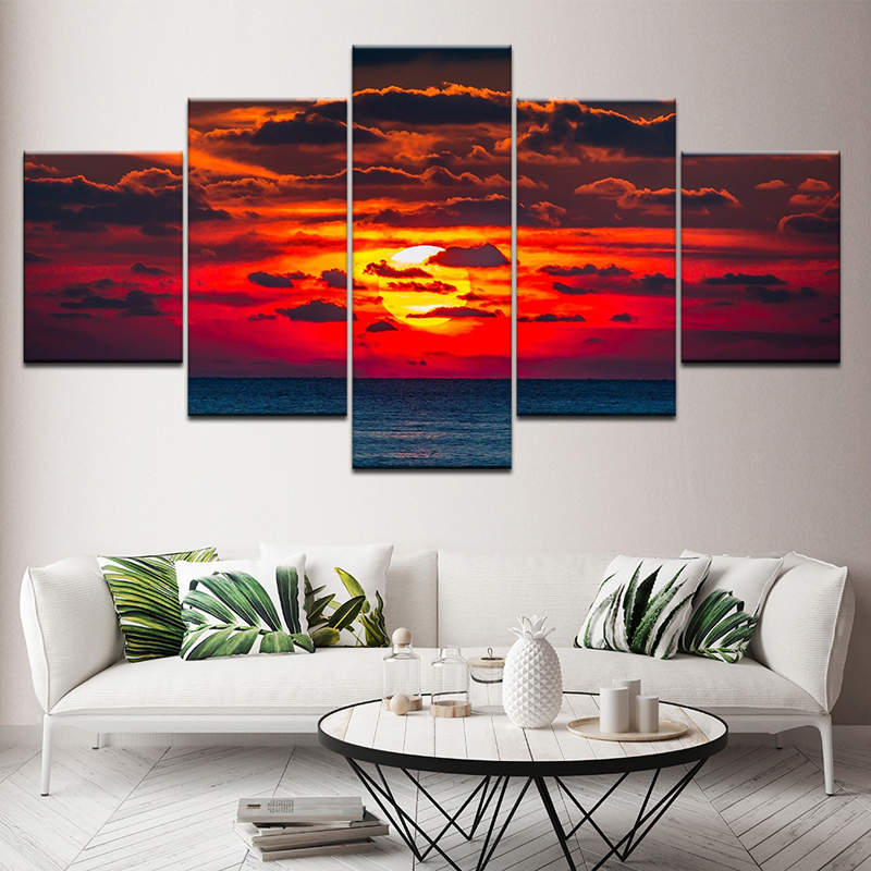 1//3//5PCS Huge Roses Canvas Painting Picture Christmas Gift Art Home Wall Decor