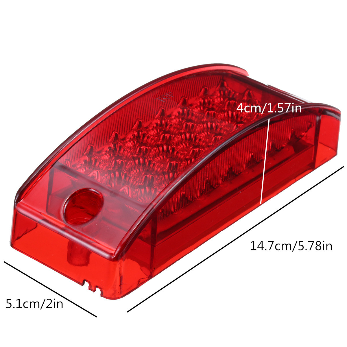 6 21 Led Side Marker Stop Turn Tail Light Clearance Reflector Trailer With 2 Wire 039