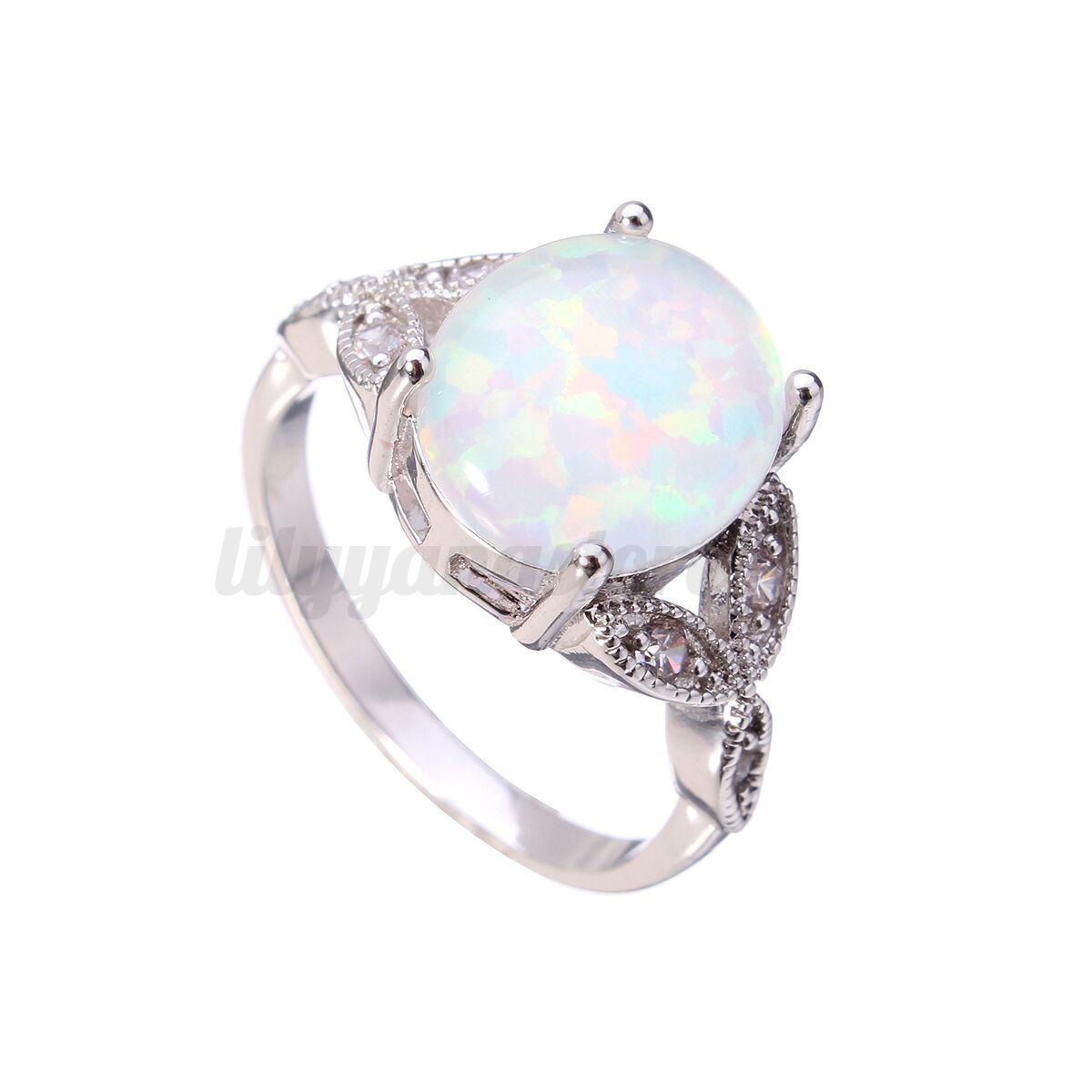 4 colors fire opal sterling silver plated ring wedding. Black Bedroom Furniture Sets. Home Design Ideas