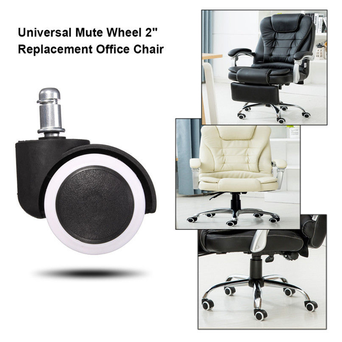 Incredible Details About 5 10Pcs Office Chair Caster Wheel Swivel Rubber Floor Home Furniture Replacement Download Free Architecture Designs Osuribritishbridgeorg