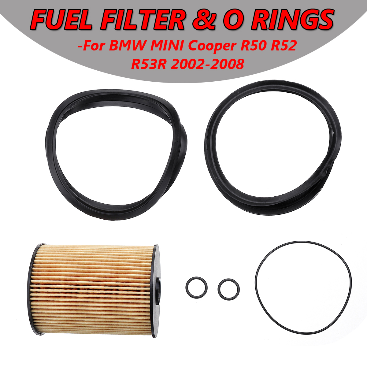 Fuel Filter Kit with O-Rings In-Tank 16146757196 for Mini Cooper 2002-2008